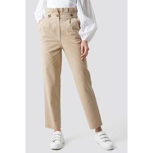 SANS SOUCI linen button paperbag pants